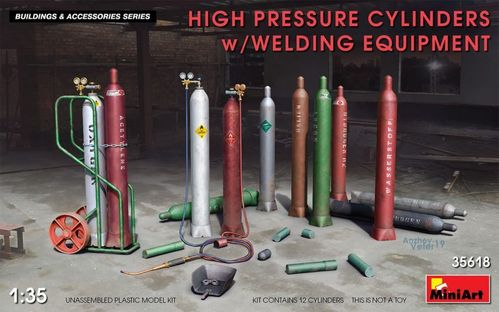 High Pressure Cylinders w/Welding Equipment 1/35