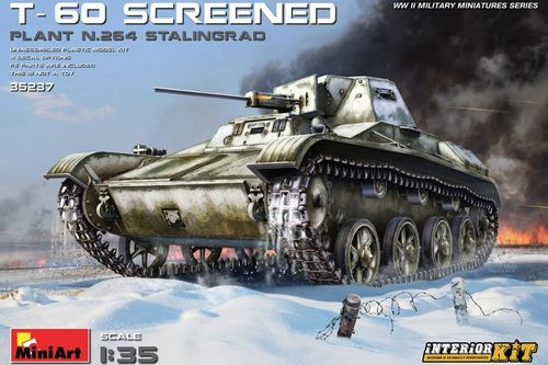 T-60 Screened (Plant No.264,Stalingrad) Interior Kit 1/35
