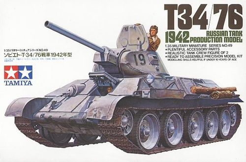 T34/76 Russian Tank 1942 Production Model 1/35