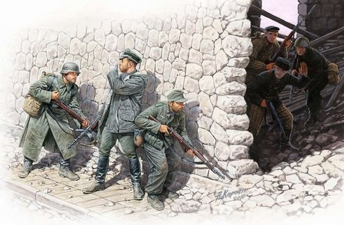 German mountain troops & Soviet marines, spring 1943