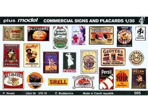 Commercial Signs and Placards 1/35