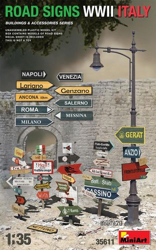 Road Signs WWII Italy 1/35