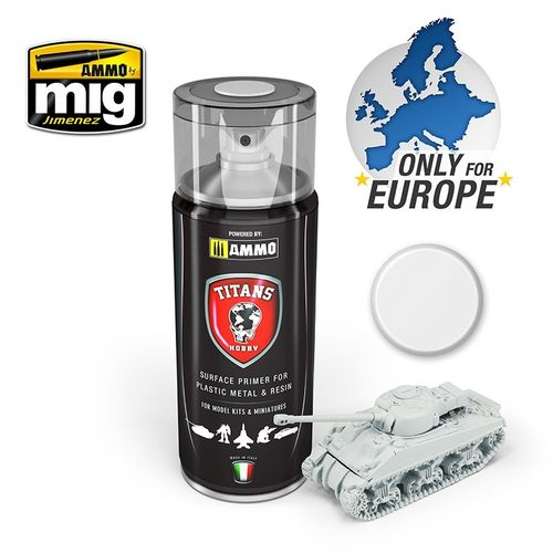 Titans Hobby:White Matt Primer  (400ml)