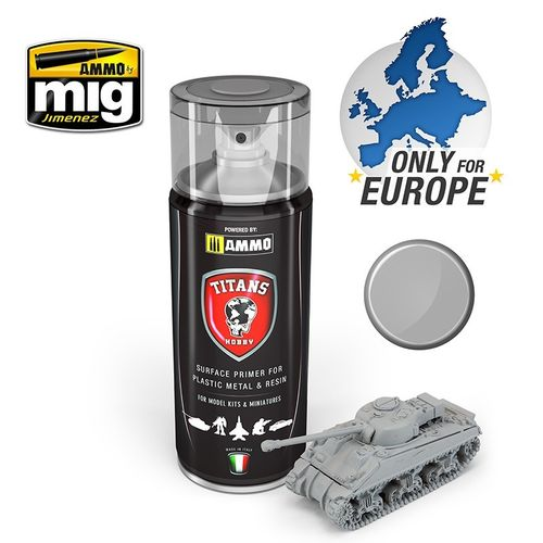 Titans Hobby:Light Grey Matt Primer  (400ml)