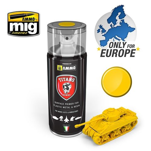 Titans Hobby: Imperial Yellow Matt Primer  (400ml)