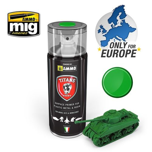 Titans Hobby: Emerald Green Matt  Primer  (400ml)