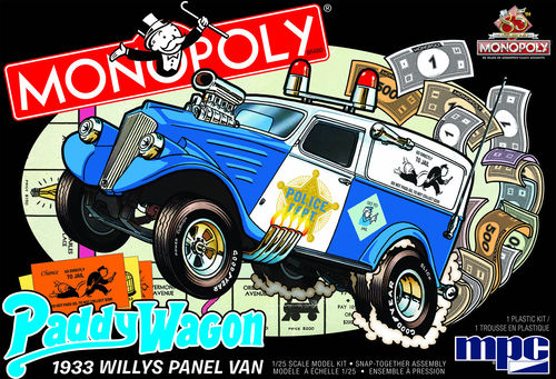 1933 Willys Panel Paddy Wagon (Monopoly)1/25