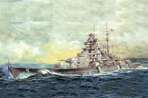 Top Grade German Bismarck Battleship  1/700