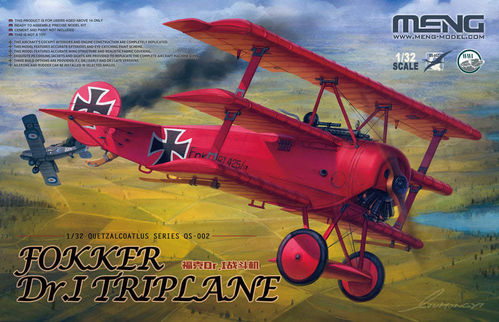 "Fokker Dr.I Triplane ""Red Baron""(incl.1/10 resin bust) Limited Edition  1/32"