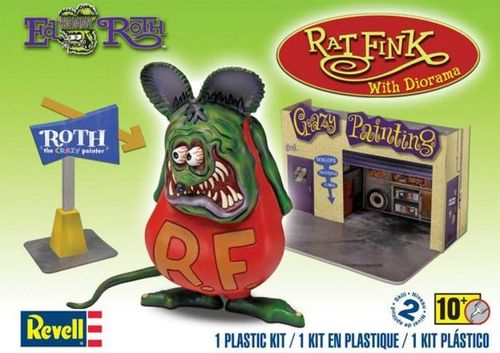 Ed Roth's Rat Fink with diorama