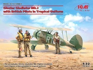 Gloster Gladiator Mk.I with British Pilots in Tropical Uniform 1/32