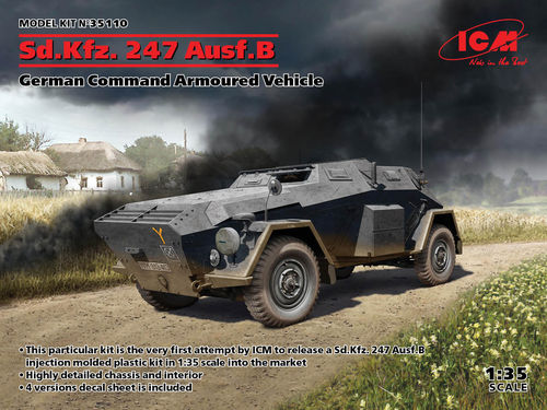Sd.Kfz. 247 Ausf.B, German Command Armoured Vehicle 1/35