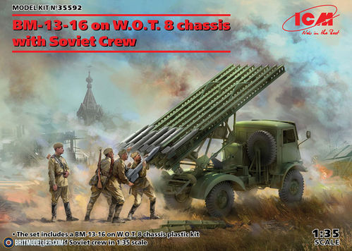 BM-13-16 on W.O.T. 8 chassis with Soviet Crew 1/35