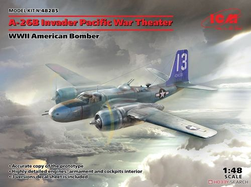 A-26 Invader Pacific War Theater, WWII American Bomber 1/48