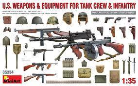 U.S. Weapons & Equipment for Tank Crew & Infantry 1/35