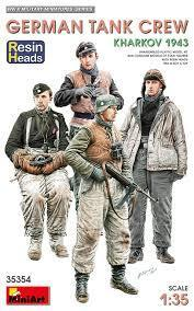 German Tank Crew.Kharkov 1943. Resin Heads 1/35