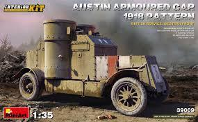 Austin Armoured Car 1918 Pattern. British Service. Western Front . Interior Kit 1/35