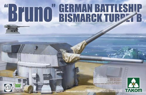 """Bruno"" German Battleship Bismarck Turret B 1/72"