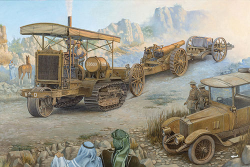 Holt 75 Artillery tracktor w/BL 8-inch Howitzer1/35