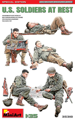 U.S. Soldiers at Rest. Special Edition 1/35