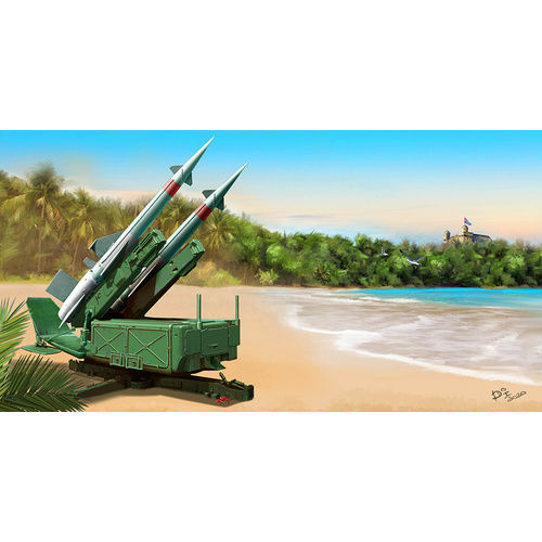 Soviet 5P71 Launcher with 5V27 Missile Pechora (SA-3B Goa) Rounds Loaded 1/35