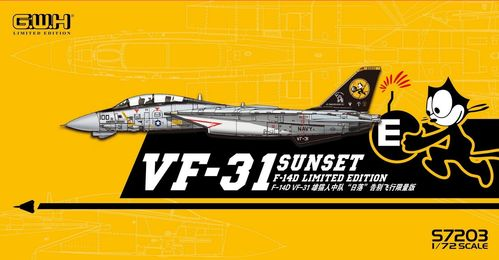 US Navy F14D VF31 Sunset Farewell Flight With Special Decal 1/72