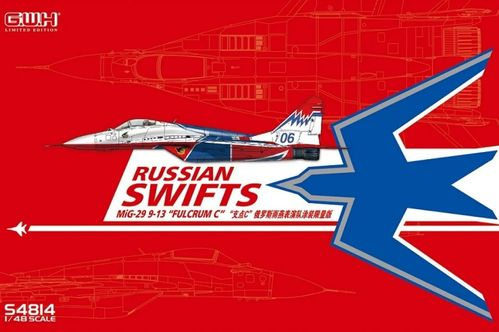 MIG 29 9.13 Fulcrum C Russian Swifts with special Mask and Decal) 1/48