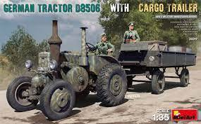 German Tractor D8506 with Cargo Trailer 1/35